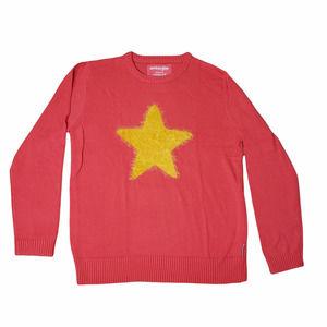 Steven Universe Unisex XL Star Sweater Cartoon Network Pink Yellow Star